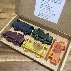 Eco Crayons Trains - 100% Natural, Plant Based Crayons