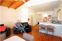 Family cabin comfort Echuca Holiday Park.