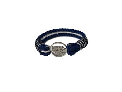 Breeze Navy & White Rope Bracelet