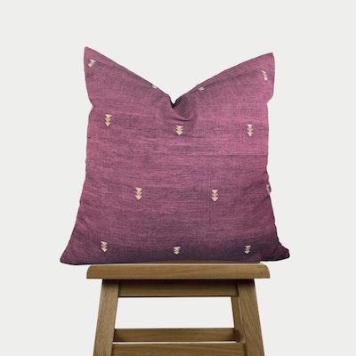 SATTVA WORLD Anar Throw Pillow cover- Plum Pink Cotton Cushion Cover -Hand-spun Handwoven Decorative Pillow Case - Australia 2021