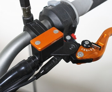 MG Biketec Clutch Fluid Tank Cover To Suit Various KTM Models (Orange)