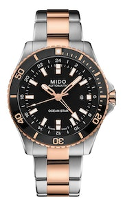 Mido Ocean Star GMT - Stainless Steel with Rose Gold PVD - Stainless Steel with Rose Gold PVD Coating and Ceramic Bezel