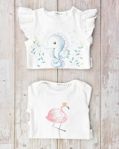 Certified Organic Cotton Baby Girl Bodysuits Value Pack