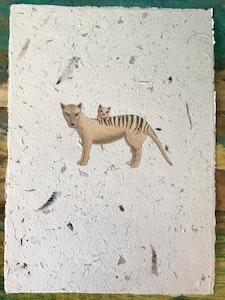 Art'N Green Tasmanian animals and flora Art Print - A4 Print on handmade paper (unframed)