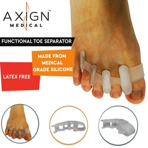 Boutique Medical 1 Pair Axign Medical Silicone Gel Functional Toe Separator Bunion Protector Pain