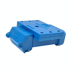 50amp Anderson Plug Blue Mounting Kit Connector Cover Assembly with LED Power Indicator