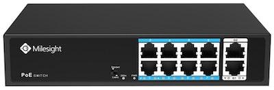 Milesight 8 port PoE switch, 120W max