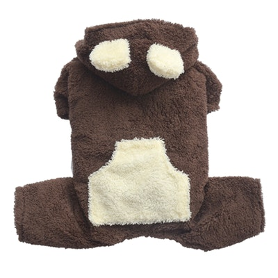 DoggyDolly THICK DOG - Fluffy Dog Chocolate Onesie