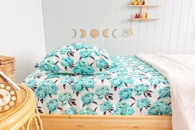 Designer Bums Aquamarine Peony Single Sheet