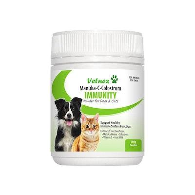 VETNEX Manuka-C-Colostrum Immunity Powder For Dogs & Cats 100G