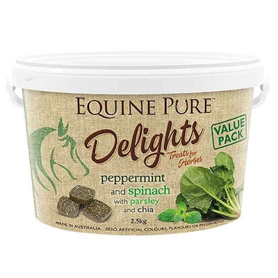 EQUINE PURE Delights Peppermint & Spinach Horse Treats - 2 Sizes