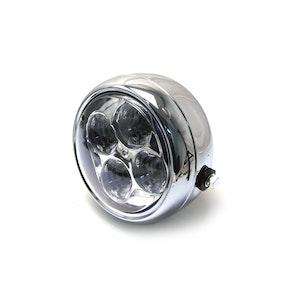 4 Eyes LED All Metal Headlight - Chrome