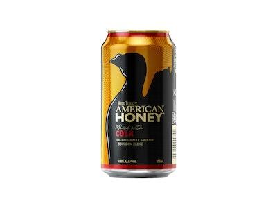 Wild Turkey American Honey Liqueur & Cola Can 375mL