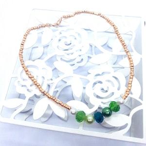 Rayhana's Store Sydney beaded necklace handmade green