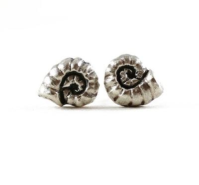 Robyn Heritage Jewellery Tillie, Silver Fossil Stud Earring 2021