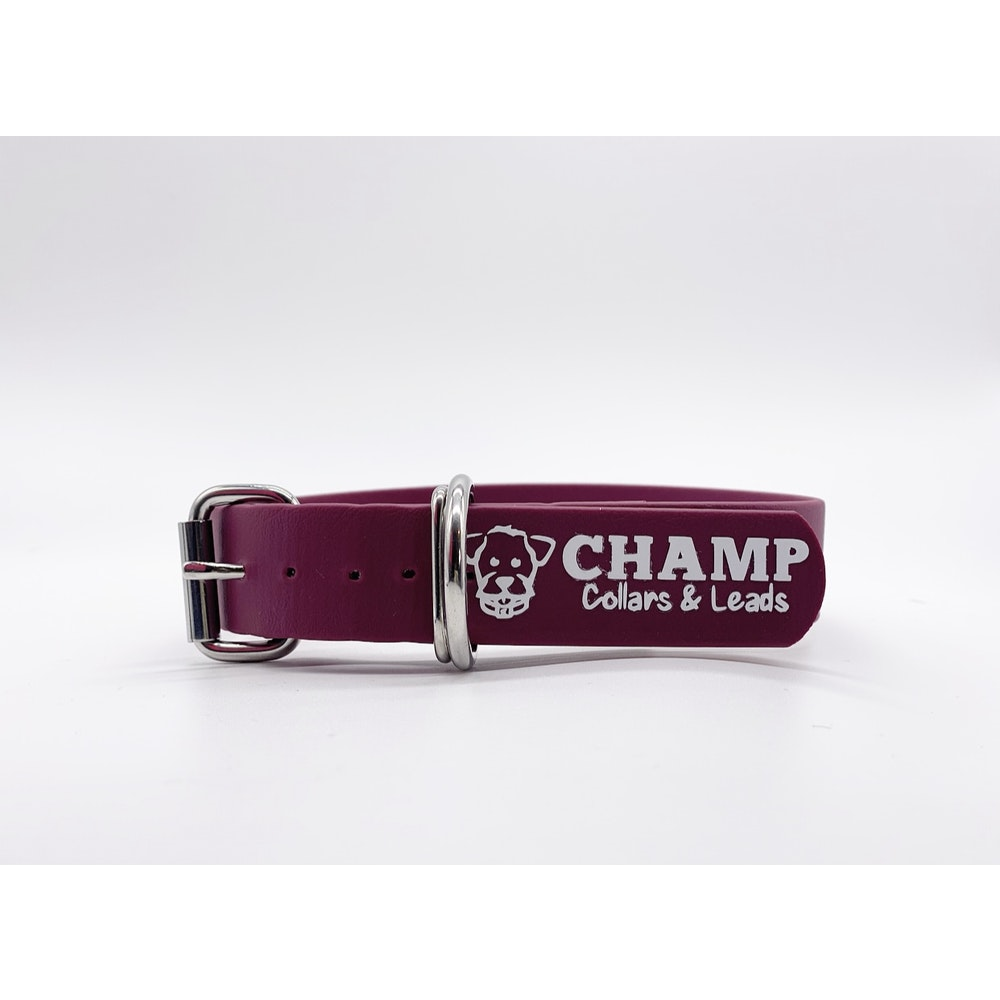 Champ Collars and Leads Biothane Collar 25mm - Roller Buckle
