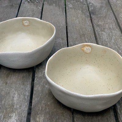 Memory Box Pinch Noodle Bowl in Raw Linen