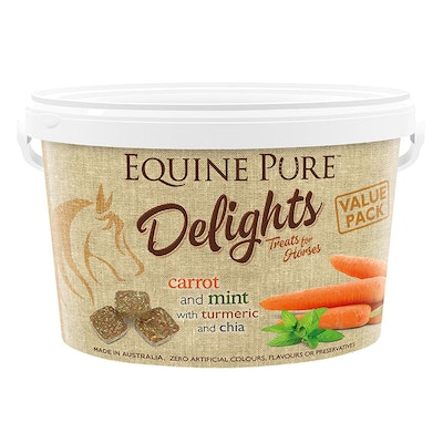 EQUINE PURE Delights Carrot & Mint Horse Treats - 2 Sizes