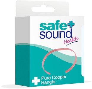 Safe + Sound Copper Bangle Plain