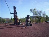 Indigenous figures at Wyndham Pic by Geoff Carter