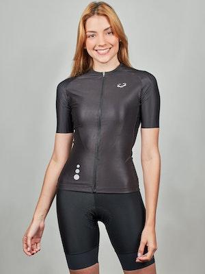Taba Fashion Sportswear Camiseta Ciclismo Mujer Alto de Letras