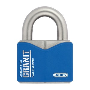 ABUS Granit Padlock 37ST55 High Security Full Stainless Steel Padlock