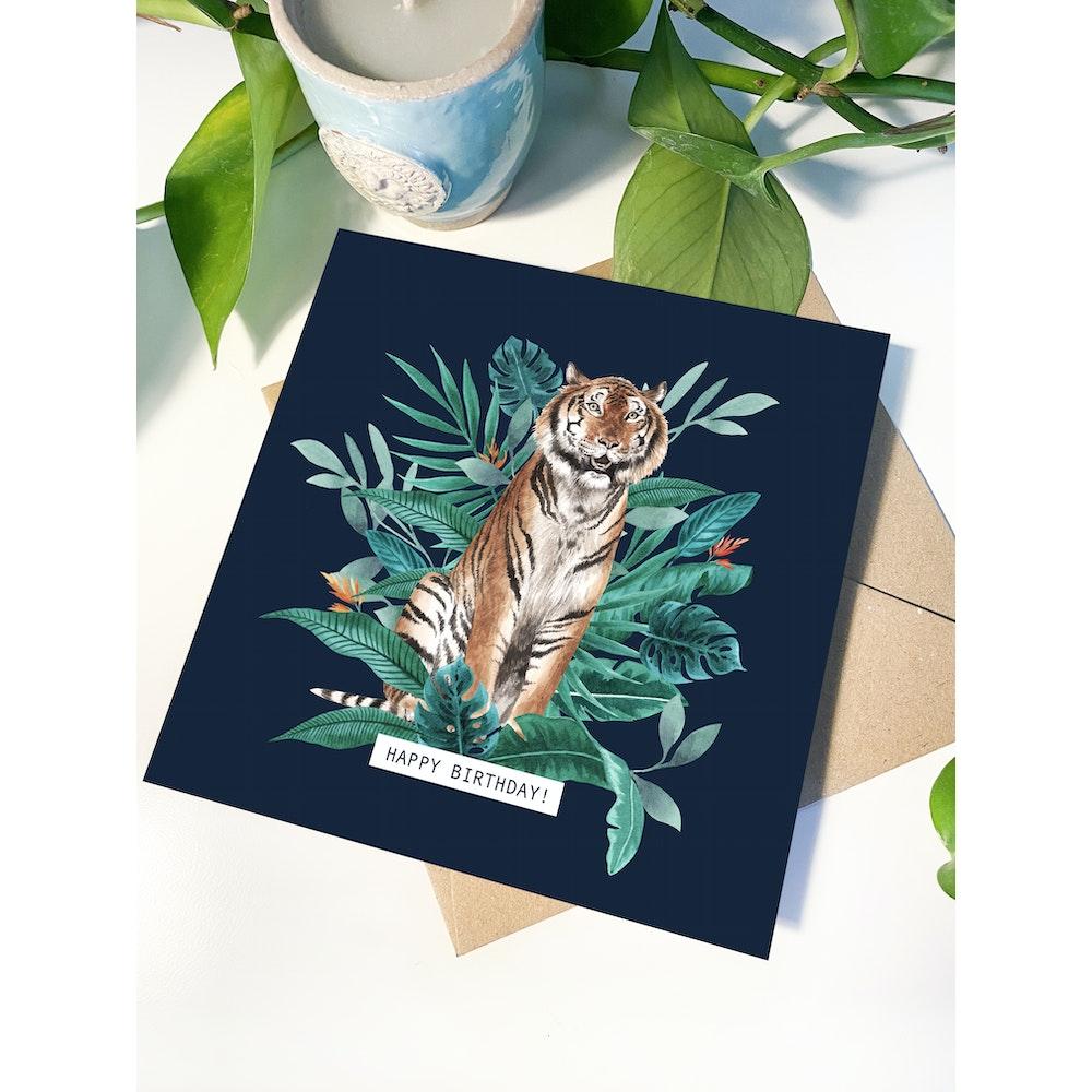 Laura Elizabeth Illustrations Tiger Greetings Card