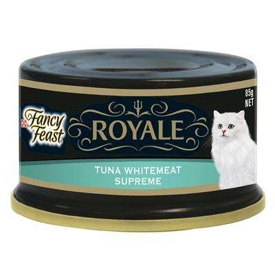 Fancy Feast Royale Wet Cat Food Whitemeat Tuna Supreme 85g x 24