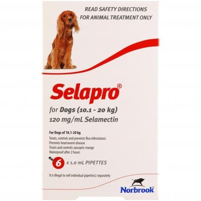 SELAPRO Spot On Treatment 10.1-20kg Dog 6 Pack