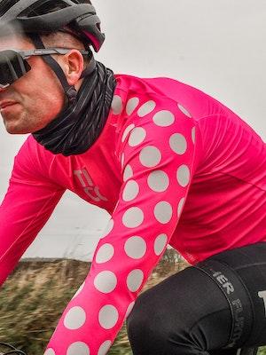 TIC CC Omloop thermal long sleeve jersey Neon pink
