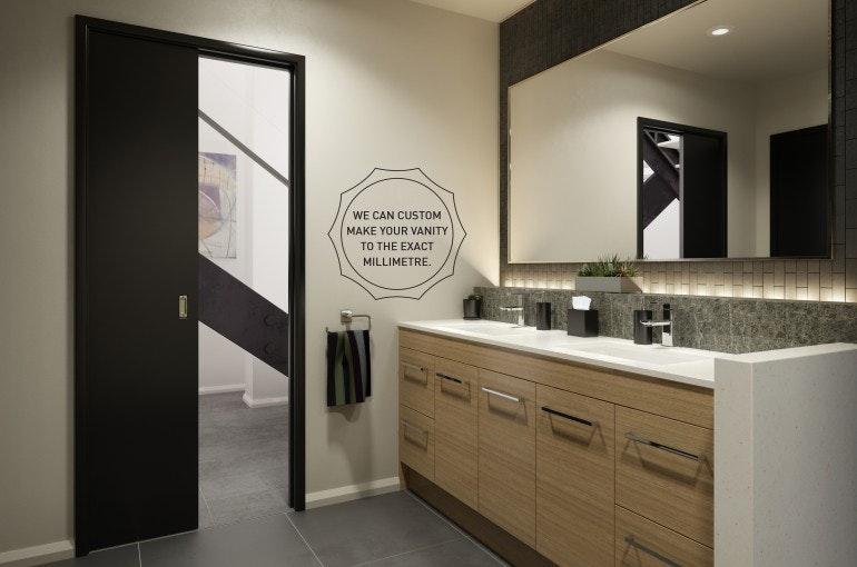 Timberline Wall To Vanity Range Hung Or Floor Standing With Meganite Top Ceramic Basin Custom Bathroom Vanities For In Killara