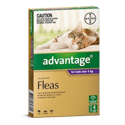Advantage Flea Treatment >4kg Cat