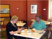 Tim McCulloch and Agnes at Richmond Bakery Cafe
