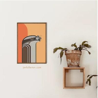 Jen Fullerton Art and Design Tawny Frogmouth – native Australian bird art