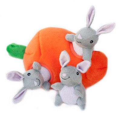 Zippy Paws Burrow Bunny 'N Carrot