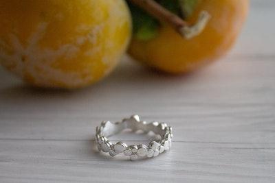 Silver Ring | Elegant Stepping stones ring