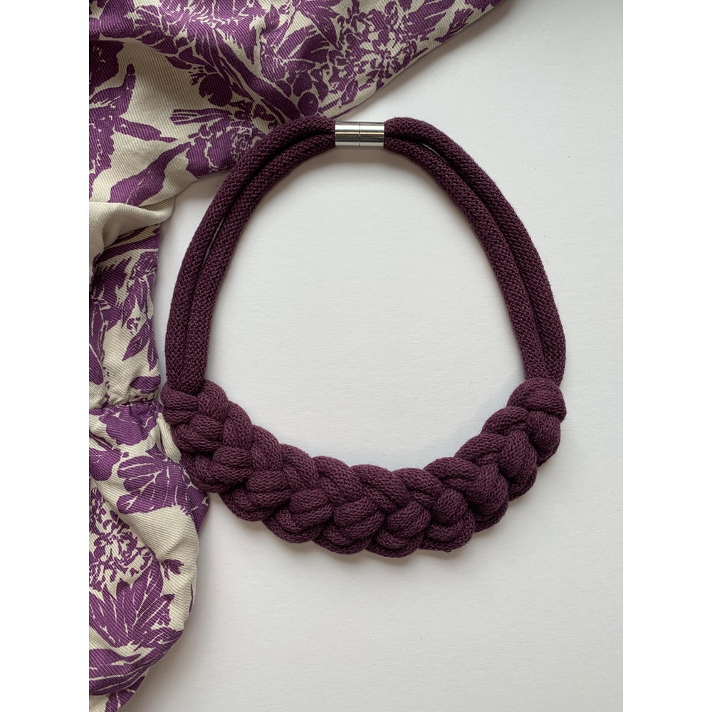 Form Norfolk Loop Knot Necklace In Plum Purple
