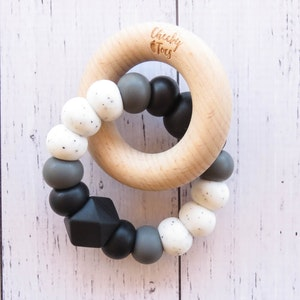 Cheeky Toes™ CHARMED Teether | Gritty Mono