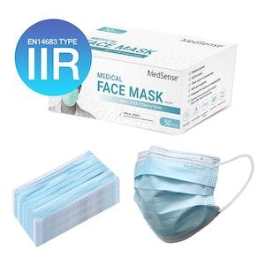 MedSense EN14683 Type IIR Medical Face Masks (Pack of 50) (ARTG No.: 340653)