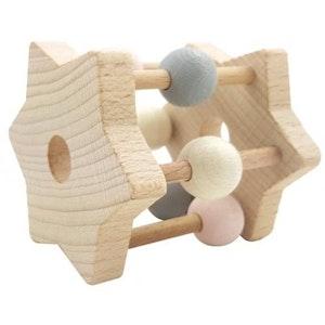 Hess Spielzeug Hess-Spielzeug - Rattle Star Natural Pink
