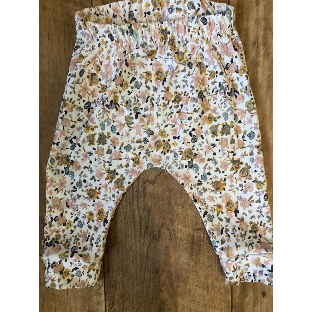 The Baby Man Store Ochre & Pink Print Leggings