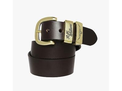 RM Williams 1/2 3 Piece Solid Hide Belt Brass Buckle