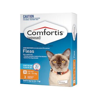 Comfortis Orange Flea Tablets 2.8-5.4kg Cat 3 Pack