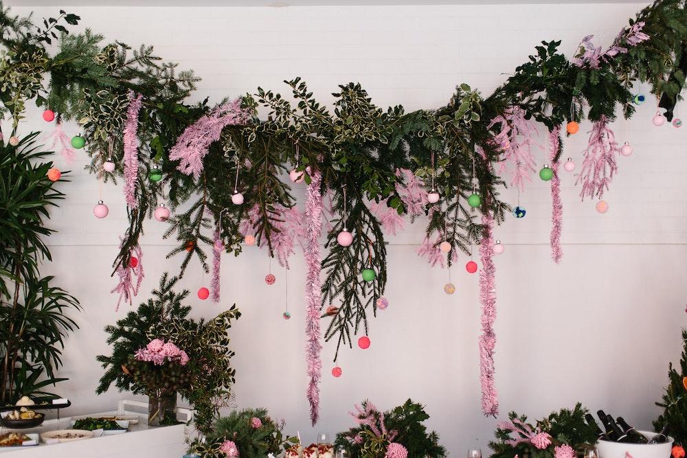 LENZO Christmas Gillian Pollard Wreath Floral Installation