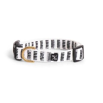 Mog & Bone Hemp Dog Collar Black & White Mosaic Print - 3 Sizes