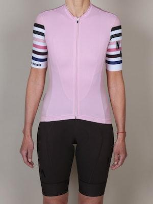 No Gods No Masters Stripes Jersey - Rose Quartz Pink
