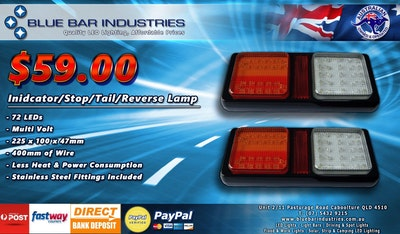 2 x Indicator/Stop/Tail/Reverse Tail Lights