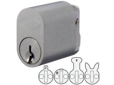 Brava 570 Style Oval Lock Cylinder to Suit Lockwood, Legge and Dorma Mortice Locks 5070USCKD