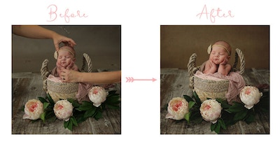 Newborn poses and feeling comfortable your baby is  safe