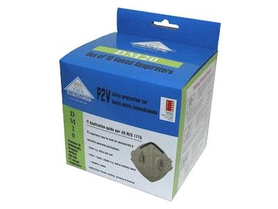 P2-V Vertical Fold Valved Respirator - Box/10 (DM20)